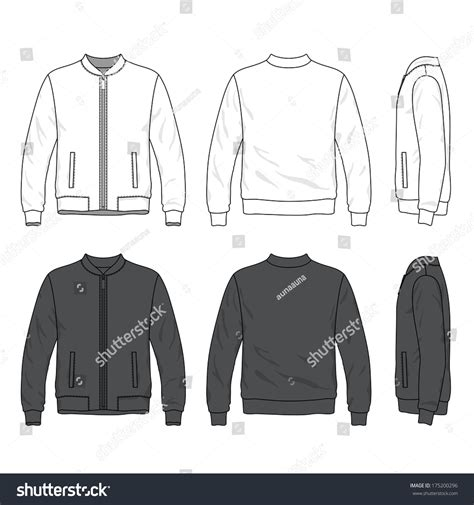 design line jacket online blank mens bomber jacket zipper front stock vector