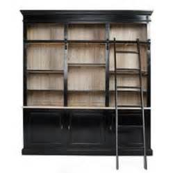 Bookshelves With Rolling Ladder Custom Built Headboard Storage Shelf Units Library Wall