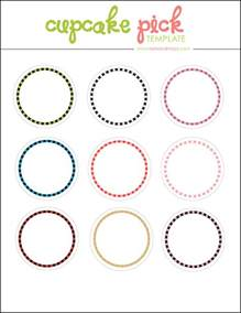 Template For Cupcake Toppers by Kate Macy Free Digital Cupcake Topper Template