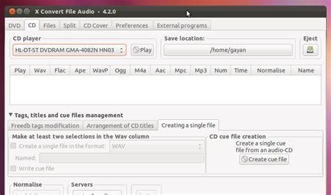 audio format converter linux powerful audio converter splitter for ubuntu linux xcfa