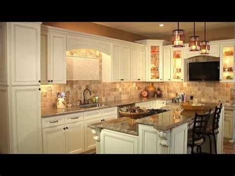 Kitchen Backsplash Ideas With Cream Cabinets devon cream kitchen cabinets youtube