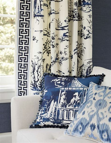 White Curtains With Blue Trim Decorating Best 20 Key Ideas On Pinterest Navy And White Curtains Asian Curtains And Patterned