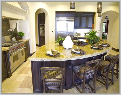 modern curved kitchen island home design ideas