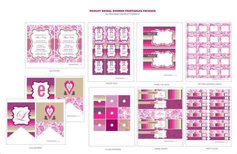 FREE Bridal Shower Printables from Wanessa Carolina