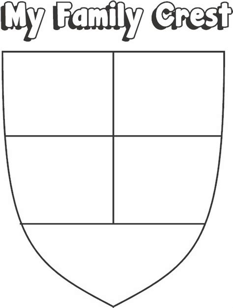 how to draw printable family crest