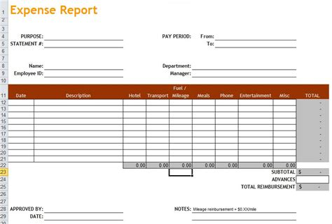 simple expense report template basic expense report template enwurf csat co