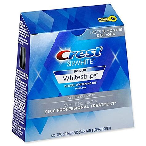 crest whitestrip supreme crest 174 3d white no slip whitestrips supreme flexfit