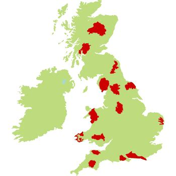 map uk national parks national parks csites and cing