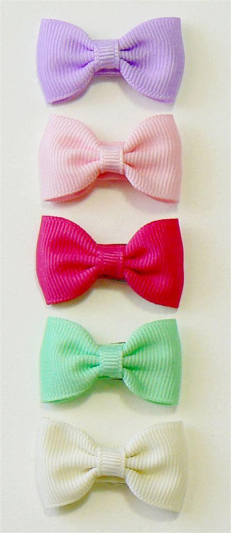 infant hair bow set newborn small tiny baby bows