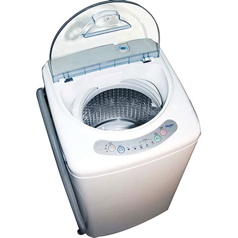 Small Apartment Size Clothes Washer Haier 1 0 Cubic Foot Portable Washing Machine Walmart