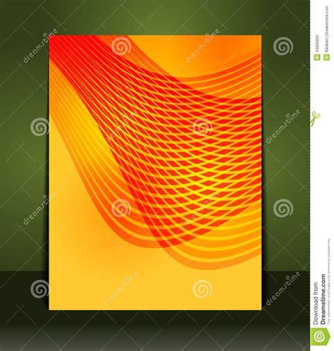 design background leaflet flyer design content orange background royalty free stock