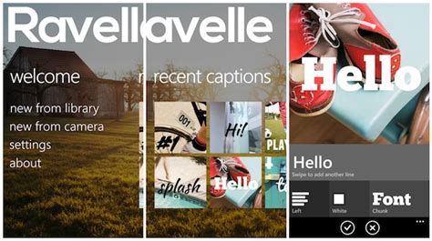aggiungere testo alle foto aggiungere testo alle foto con ravelle windows phone