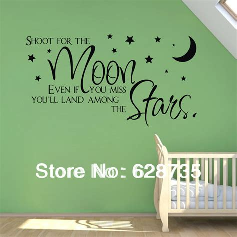 wall stickers sale sale on ebay shoot for the moon quote wholesale wall