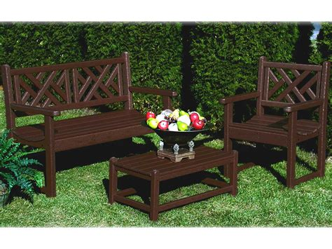 chippendale garden bench polywood 174 chippendale recycled plastic bench pwcdb48