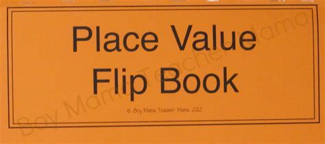 Place Value Practice With A Flip Boy Mama Teacher Mama