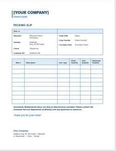 Packing Slip Template Docs by Doc 582746 Packing Slip Template Word Free Packing