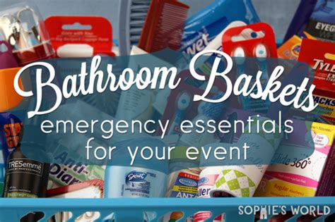 bathroom toiletry baskets bathroom baskets emergency essentials for your event sophie s world
