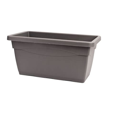 Plastic Planter Trough 80cm salisburg plastic trough planter i n 2940373 bunnings warehouse