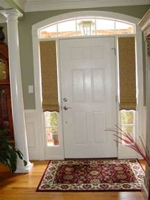Glass Front Door Shades Custom Shades For Sidelight Windows At Front Door Shades At The Top