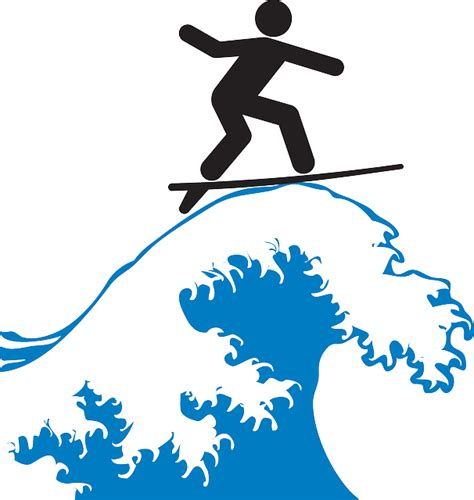 surfing clipart wave surfing rider 183 free vector graphic on pixabay