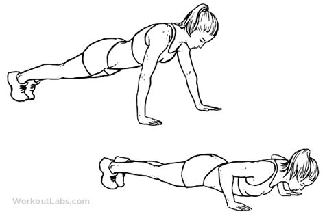 push up diagram wide push up illustrated exercise guide workoutlabs