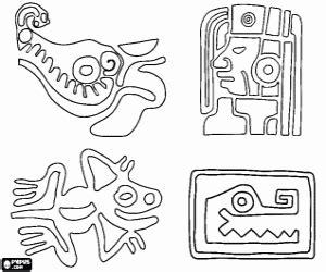 imagenes mayas faciles juegos de mayas imperio maya para colorear imprimir y