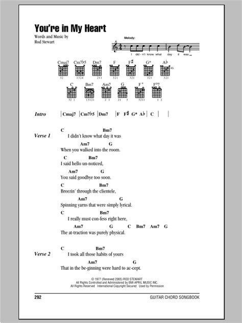 my lyrics rod stewart you re in my by rod stewart guitar chords lyrics