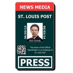 Media Press Pass Template by Free Custom Id Card Templates By Idcreator Make Id Badges