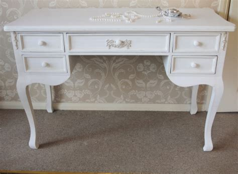 white distressed dressing table antique white 5 drawer dressing table distressed writing
