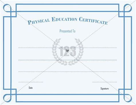 get free physical education certificates 123certificate