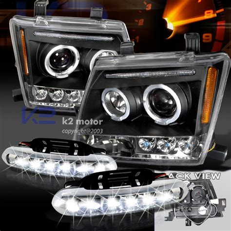 Lu Hid Projector Dan Eye Motor nissan xterra dual halo black led projector headlights