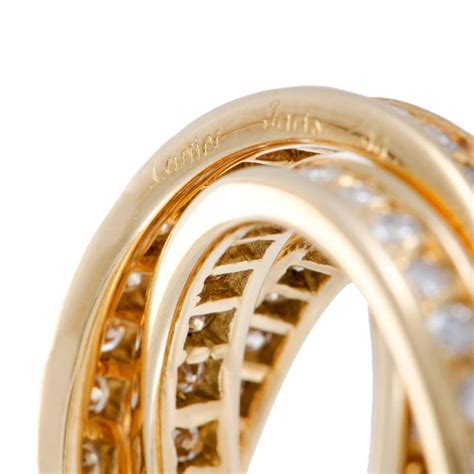 cartier gold three band ring at 1stdibs
