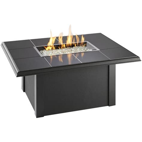 Propane Patio Table Napa Valley Propane Pit Table By Outdoor Greatroom Company Black Ultimate Patio