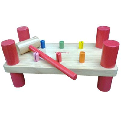 Palu Badut Mainan Edukatif Edukasi Kayu Anak Sni Ape Paud Tk mainan kayu edukatif palu 6 paku kayu seru