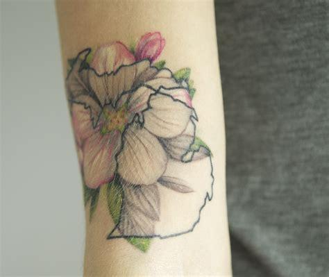 apple blossom tattoo michigan apple blossom by kegan eastham