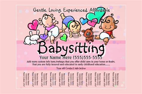 babysitting flyer free template 11 fabulous psd baby sitting flyer templates free