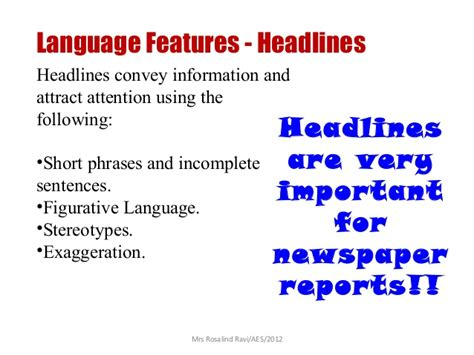 Writing A News Report Ppt by Writing A Newspaper Report Ppt