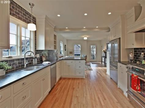 kitchen layout ideas galley kitchen peninsula with seating galley kitchen with