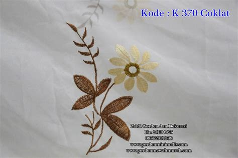 Vitrage Gorden vitrage dalaman gorden bordir kode k370 coklat model