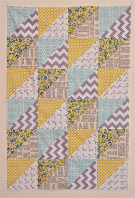 pattern for triangle baby quilt quick triangles baby quilt craft buds
