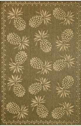 Pineapple Outdoor Rug Trans Bahama Thatcher Outdoor Pineapple Wheat Rug