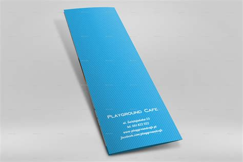 A4 Half Fold Card Template by A4 Half Folded Menu Card Mockup By Nishima Graphicriver