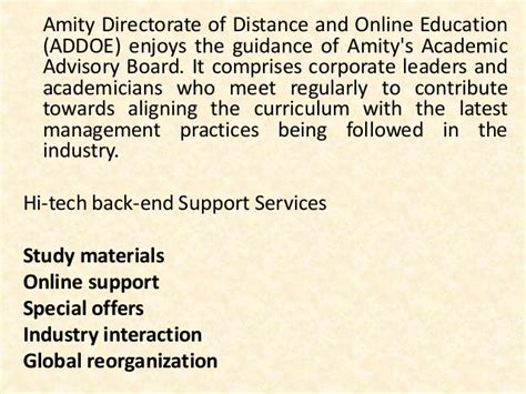 Amity Mba For Working Professionals by Mba Project Report Of Amity School Of Distance Learning