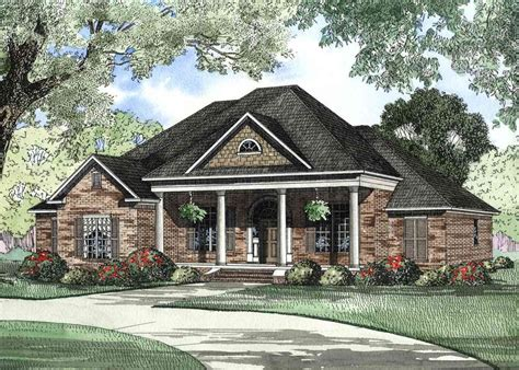 newcastle ii house plan front covered porch house plans covered front porch traditional home 59296nd