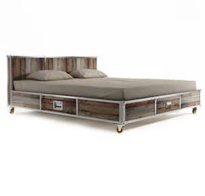 Storage Platform Bed King Industrial Loft Reclaimed Teak King Size Platform Storage Bed