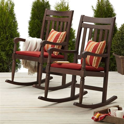 strathwood redonda hardwood rocking chair brown