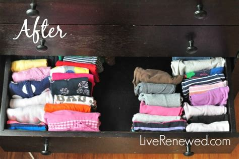 Folding Clothes In Drawers by The Best Way To Fold And Organize Clothes