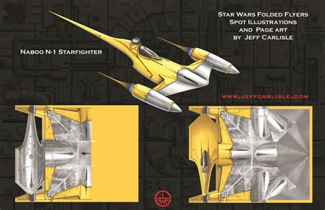 How To Make A Wars Paper Airplane - wars folded flyers naboo n 1 fighter spot