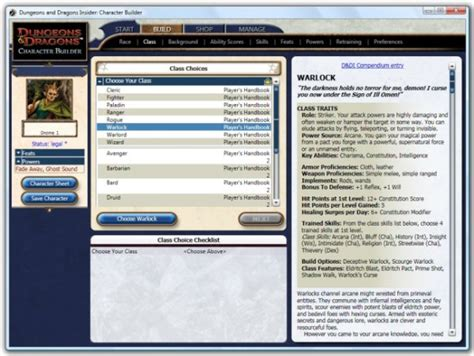 dungeon and dragons character builder download