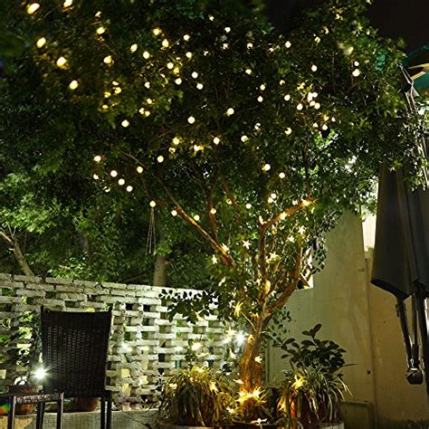 Gdealer Solar Outdoor String Lights 31ft 50 Led Waterproof Stringing Lights In Trees